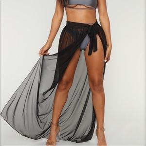 Fashion Nova cover up skirt